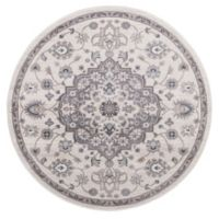 Lara Center Medallion 7-Foot 10-Inch Round Area Rug in Anthracite