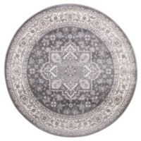 Lara Heriz 5-Foot 3-Inch Round Rug in Grey