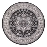 Lara Heriz 5-Foot 3-Inch Round Rug in Anthracite