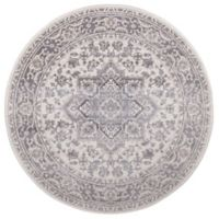 Lara Heriz 5-Foot 3-Inch Round Rug in Ivory/Grey