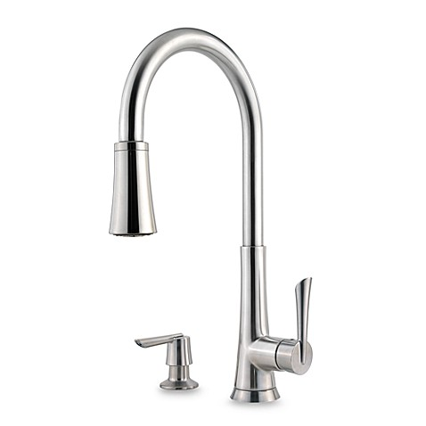 Price Pfister® Mystique Stainless Steel Pull Out Kitchen Faucet ...