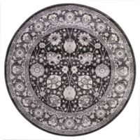 Lara Vase 5-foot 3-Inch Round Area Rug in Anthracite