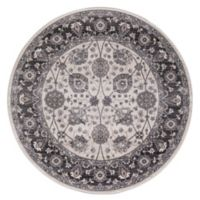 Lara Vase 7-foot 10-Inch Round Area Rug in Ivory/Grey