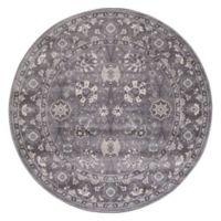 Lara Vase 7-Foot 10-Inch Round Area Rug in Grey