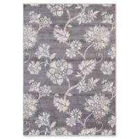 Lara Floral Harmony 5-Foot 3-Inch x 7-Foot 7-Inch Area Rug in Grey