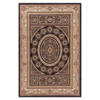 Jewel Aubusson 5-Foot 3-Inch x 7-Foot 7-Inch Area Rug in Black