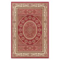 Jewel Aubusson 5-Foot 3-Inch x 7-Foot 7-Inch Area Rug in Red