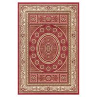 Jewel Aubusson 7-Foot 10-Inch x 9-Foot 10-Inch Area Rug in Red
