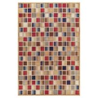 Jewel Checkerboard 5-Foot 3-Inch x 7-Foot 7-Inch Area Rug in Gold