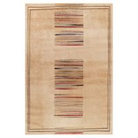 Concord Global Trading Jewel Stripes 5-Foot 3-Inch x 7-Foot 7-Inch Area Rug in Ivory