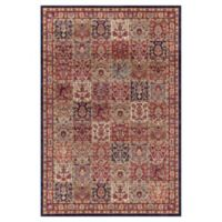 Concord Global Trading Jewel Panel 5-Foot 3-Inch x 7-Foot 7-Inch Area Rug in Red