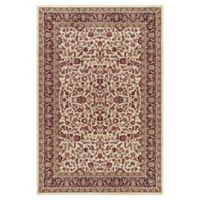 Jewel Kashan 2-Foot 7-Inch x 4-Foot Accent Rug in Ivory/ Black