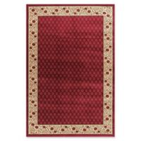 Jewel Harmony 5-Foot 3-Inch x 7-Foot 7-Inch Area Rug in Red