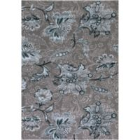 Thema Jacobean 3-Foot 3-Inch x 4-Foot 7-Inch Accent Rug in TealGrey