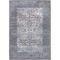 Thema Vintage 3-Foot 3-Inch x 4-Foot 7-Inch Accent Rug in Teal/Grey