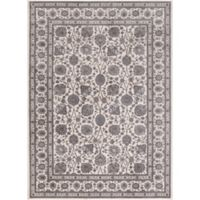 Kashan Floral 3-Foot 3-Inch x 4-Foot 7-Inch Accent Rug in Ivory