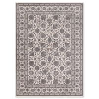 Kashan Floral 5-Foot 3-Inch x 7-Foot 3-Inch Area Rug in Ivory