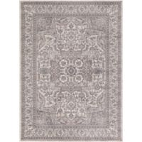 Kashan Heriz 3-Foot 3-Inch x 4-Foot 7-Inch Accent Rug in Ivory