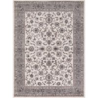 Concord Global Trading Kashan Bergama 6-Foot 7-Inch x 9-Foot 3-Inch Area Rug in Ivory