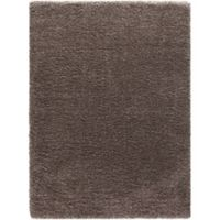 Ocean 6-Foot 7-Inch x 9-Foot 3-Inch Shag Area Rug in Light Brown