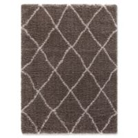Ocean Trellis 5-Foot 3-Inch x 7-Foot 3-Inch Shag Area Rug in Light Brown