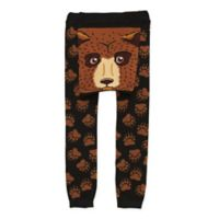 Doodle Pants® Medium Bear Face Leggings in Brown