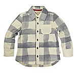 Burt's Bees Baby® Size 0-3M Buffalo Plaid Shirt in Ivory/Grey