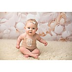 Tiny Blessings Boutique 2-Piece Mohair Ruffle Romper and Tie-Back Headband Set in Beige