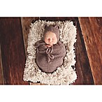 Tiny Blessings Boutique 2-Piece Mohair Bear Bonnet and Snuggle Sack Set in Chocolate