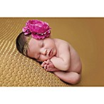Tiny Blessings Boutique Newborn Ruffle Flower Headband in Raspberry