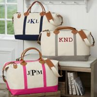 Luxurious Weekender Embroidered Canvas Monogram Duffle Bag