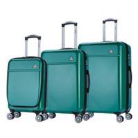 InUSA Avila 3-Piece Hardside Spinner Luggage Set in Green
