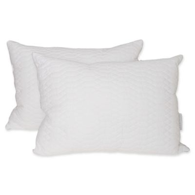 waterford marquis raindrop quilted jumbo down alternative pillows set of 2