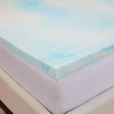 authentic comfort gel swirl 15inch queen memory foam mattress topper