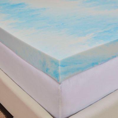 authentic comfort dorm 3inch gel swirl twin xl mattress topper in bluewhite - Gel Mattress Topper