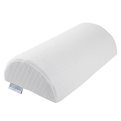 Bluestone Memory Foam Back Lumbar Half Moon Pillow Bed