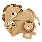 Baby Aspen Size 0-6M 3-Piece Lion Bathtime Gift Set