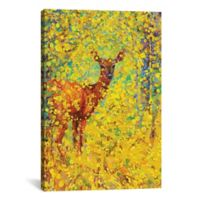 White Tailed Deer 18-Inch x 12-Inch Canvas Wall Art