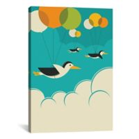 iCanvas Flock of Penguins 18-Inch x 26-Inch Canvas Wall Art