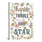 "iCanvas Sweet Sayings II ""Twinkle, Twinkle Little Star"" 18-Inch x 12-Inch Canvas Wall Art"