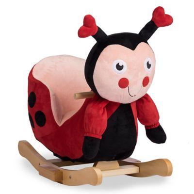 Rockinu0027 Rider Lala The Ladybug Baby Rocker In Red