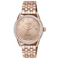 Citizen Drive Ladies' 37mm Swarovski® Crystal Watch in Rose Goldtone Stainless Steel