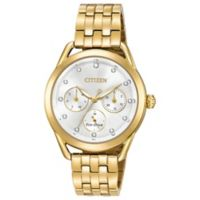 Citizen Drive Ladies' 37.5mm Swarovski® Crystal Chronograph Watch in Goldtone Stainless Steel