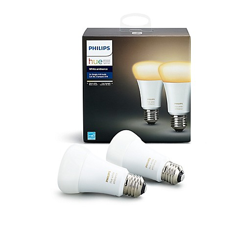 philips hue white ambiance a19 2 pack bulbs bed bath beyond. Black Bedroom Furniture Sets. Home Design Ideas