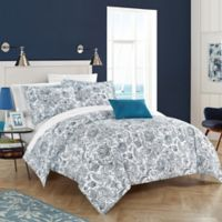 Chic Home Orleans Park Twin Duvet Cover Set in Blue