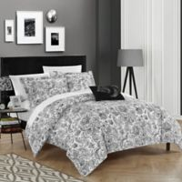 Chic Home Orleans Park Queen Duvet Cover Set in Black