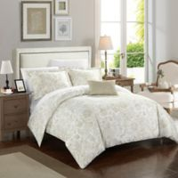 Chic Home Orleans Park Queen Duvet Cover Set in Beige