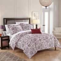 Chic Home Orleans Park Queen Duvet Cover Set in Brick