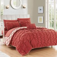 Chic Home 8-Piece Reversible King Duvet Cover Set in Brick
