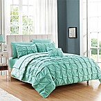 Chic Home 8-Piece Reversible King Duvet Cover Set in Aqua